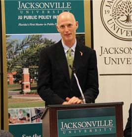 Florida Governor Rick Scott addressing JU PPI Board of Advisors Feb 7, 2013