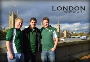 (left to right) Pruitt, Gale and Paduchak meet in London during their semester abroad in Germany and Scotland