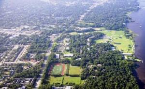 JU aerial with Arlington